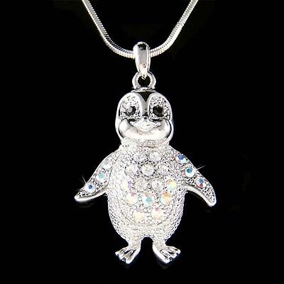 Baby Emperor Penguin made with Swarovski Crystal Antarctica Jewelry Necklace New