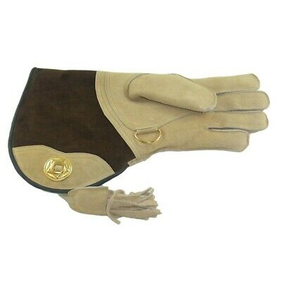 Falconry Suede Double skinned glove fur lined...magnolia colour