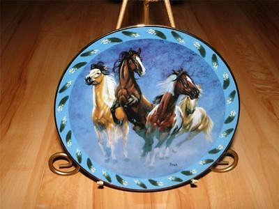 """""""The Four Winds"""" SPIRITED VISIONS by Diana Beach The Danbury Mint HORSE Plate"""