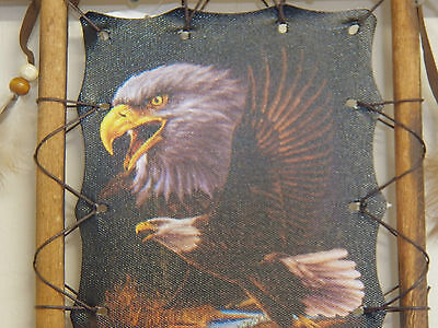 """Framed Indian Picture """"eagle"""" Back To Earth Collection 11"""" X 9"""""""