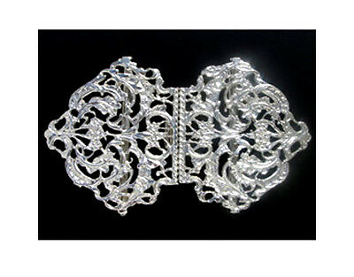 Solid Silver Nurses Buckle. Brand New Hallmarked Sterling Silver Nurses Buckle