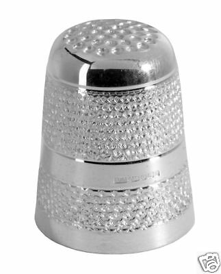 Hallmarked Solid Silver Thimble With Knurled Pattern