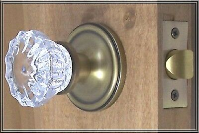 Finest Fluted Depression Crystal Passage Door Knob Set (Privacy Set available )