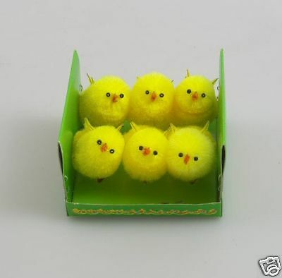 Box of 6 Easter Chicks  Ideal for Cake Decorating 6639