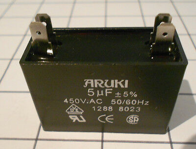 Air Conditioner Fan  Start Capacitor 5.0  Uf 450Vac  Can Suit Other Applications