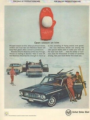 1962 US Steel Plymouth Wagon -  Classic 10x13 Vintage Advertisement Ad LG8