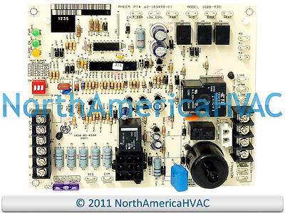 honeywell gas furnace control circuit board 1012 932 • 89 99 oem rheem ruud weather king honeywell furnace control circuit board 1028 930