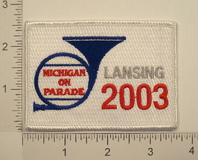 Lansing MICHIGAN ON PARADE 2003 Embroidered PATCH