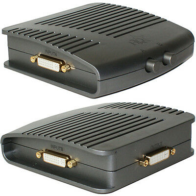 2 Port/Way DVI-I Manual Switch Box Dual Link-2 In 1 Output-PC Video Hub Selector