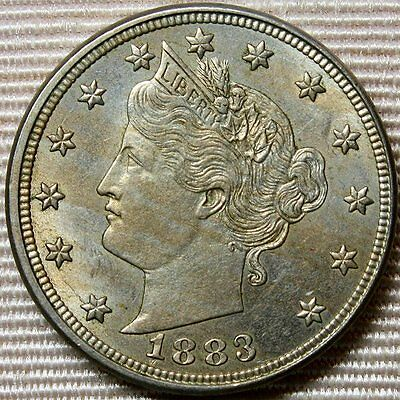 "1883 Liberty ""V"" Nickel With Cents * First Year Type"