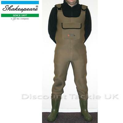 Shakespeare Sigma Neoprene Chest Waders All Sizes 7 8 9 10 11 12 New