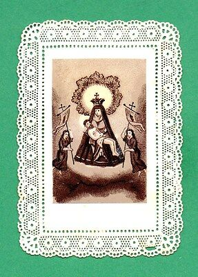 PIETÀ & ANGELS Antique SMALL LACE HOLY CARD