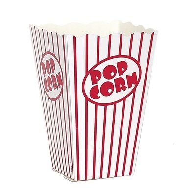 Popcorn Boxes Circus Sleepover Party Supplies Birthday Movie Night (Pack Of 10)