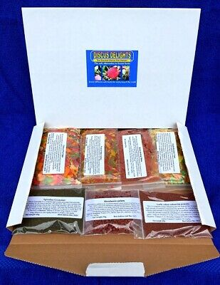 Discus Delights Fish Food No Frill's Pizza Box Style Refill Hamper pack.