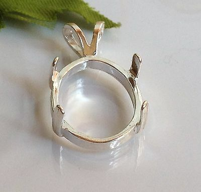 Sterling Silver Oval Cabochon Pendant Casting (6x4-22x10mm)