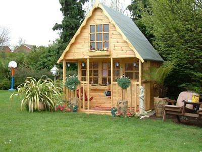 Wooden Playhouse/play house/wendyhouse/wendy house 8x8 2 storey Swiss chalet