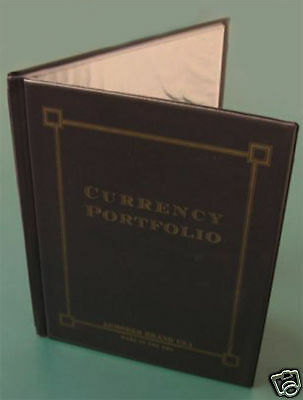 "BRAND NEW CURRENCY PORTFOLIO ~ HOLDS 30 BILLS (SEE PHOTOS) ~ 9"" x 12"" GREAT GIFT"