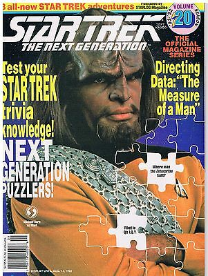 Star Trek The Next Generation The Official Magazine Series No.20 / 1992