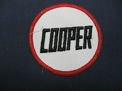 Embroidered  Cooper  Patch  Race Car  Road Racing Sports Car Open Wheel