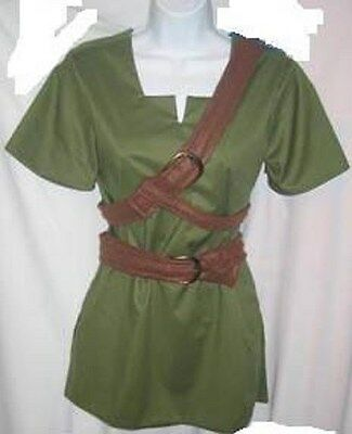 Link Costume Zelda Cosplay Ocarina of Time or Twilight Princess custom made USA