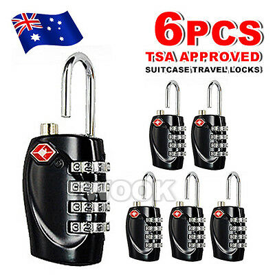 OZ Code Padlock 4 Dial 6x TSA Approved Luggage Security Lock For Travel Suitcase