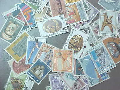 50 Different Cyprus Stamp Collection - Lot