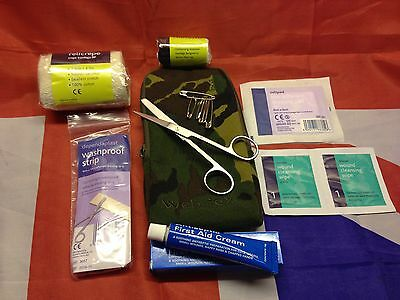 Web-tex Small First Aid Kit in DPM Pouch ideal field kit for combat or outdoors