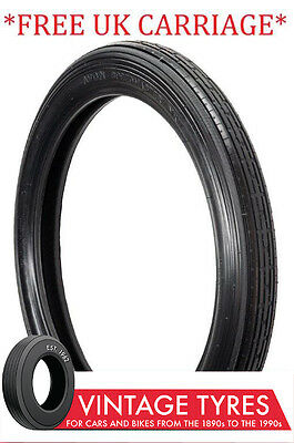 325-17 3.25-17 Avon Speedmaster Ribbed Motorcycle Front Tyre 325S17 Enfield