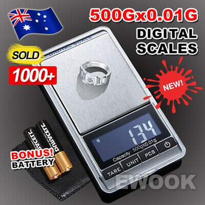 OZ Best 500g 0.01g Mini Pocket Electronic Digital Weight Scales Gold Jewellery