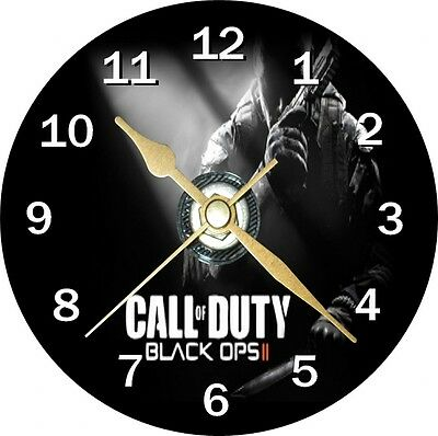 Call Of Duty Black Ops II Novelty Cd Clock Can be personalised