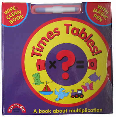 Turn the Dial Learn the Times Tables wipe-clean book learn multiplication