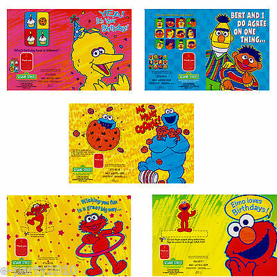 SESAME STREET BIRTHDAY GREETING Gift CARD SELECTION ~ Party Supplies Stationery