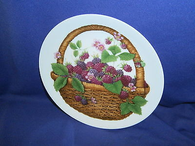 Vintage Summer Fruit Collection Collectors Plate by Avon 1985 Japan MIB