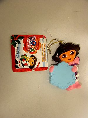 New Dora The Explorer Ornament W/dora Holding A Large Snowflake