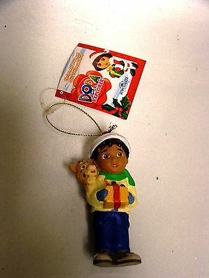 New Dora The Explorer Ornament Young Latino Boy Holding A Gift