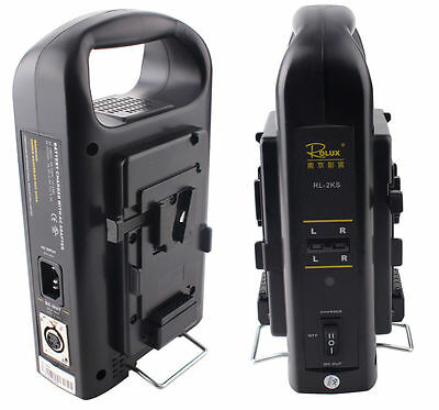 Sony V-mount V Lock Li-ion Battery Charger  DC Power Supply Dual Channel RL-2KS