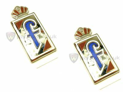 PAIR of Alfa Romeo GTV Spider Brera Pininfarina F Badges 60676918 100% GENUINE