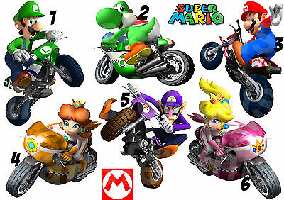 Mario Bros Moto Sticker / Autocollant Ou Transfert Textile , Vetement, T-Shirt