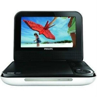 "Philips PD700 7"" LCD Portable DVD, CD and MP3 Player White with Stereo Speakers"