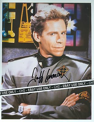 "JEFF CONAWAY NICE SIGNED COLOR 8x10 PHOTO ""BABYLON 5"" ""TAXI"" ""GREASE"""