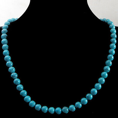 J0013504 Beautiful Turquoise 8mm necklace 18inch