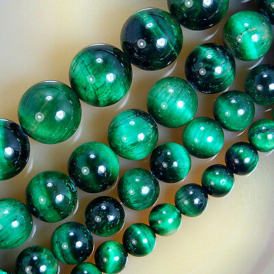 Green Tiger Eye Round Beads 6,8,10,12mm Pick Size