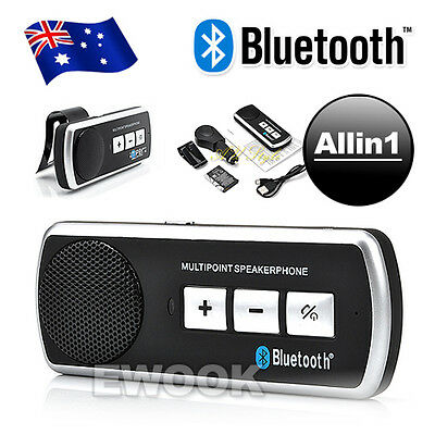 OZ Bluetooth Car kit Handsfree Speaker Headphone For Universal For All Phone