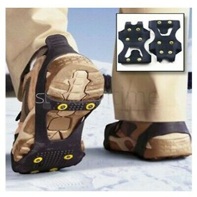 Large Ice Grips Non Slip On For Shoe Boots Snow Spikes Grippers Cleats Studs New