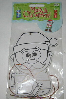 """""""jointed Santa Claus Ornament Craft""""  *new"""