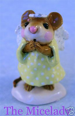 ICE ANGEL by Wee Forest Folk, WFF# M-212, YELLOW on Snow, Retired 2002