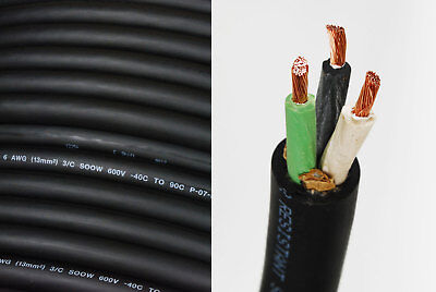 6/3 SOOW SO Cord 10 ft HD USA Portable Outdoor Indoor 600 V Flexible Wire cable