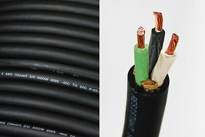 6/3 SOOW SO Cord 15 ft HD USA Portable Outdoor Indoor 600 V Flexible Wire cable