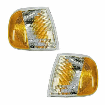 Pair of Corner Lights Left & Right Fits 1997-2003 Ford F150 w/o SVT & Expedition