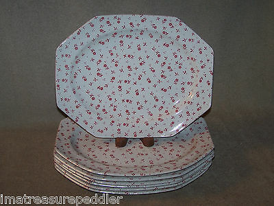 Royal Staffordshire Meakin Pink Vanity Fair Platter(s) / Steak Dinner Plate(s)